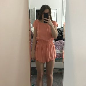 New Urban Outfitters Peach Romper